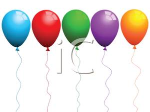 Colorful in a royalty. Balloons clipart line