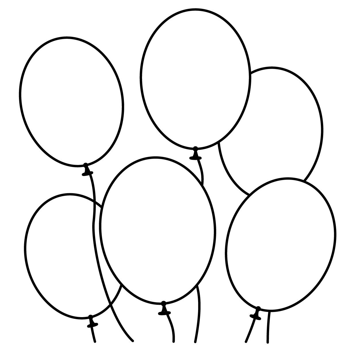 Snowmen black and white. Balloon clipart outline