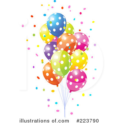 Party Balloons Clipart #223790 - Illustration by Pushkin