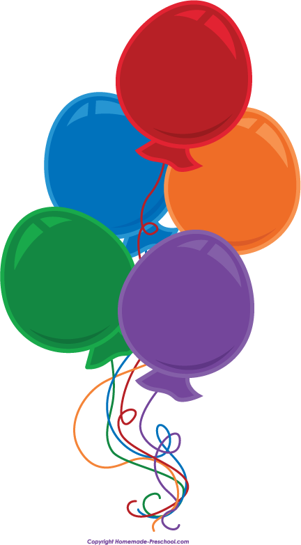 Balloon clipart. Free birthday balloons click
