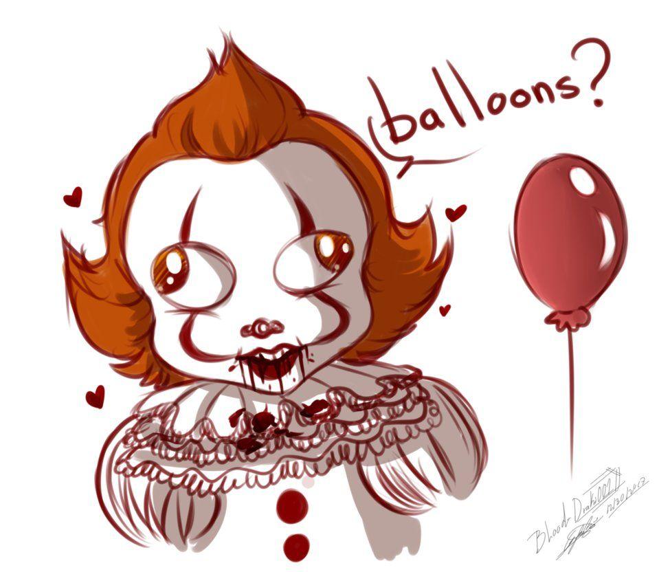 Balloons clipart pennywise. Draki fan art by