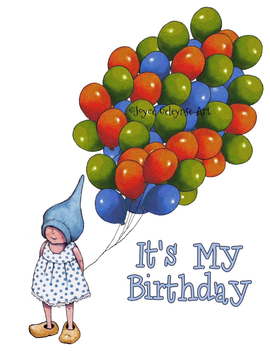 Gnome and commercial use. Balloons clipart printable