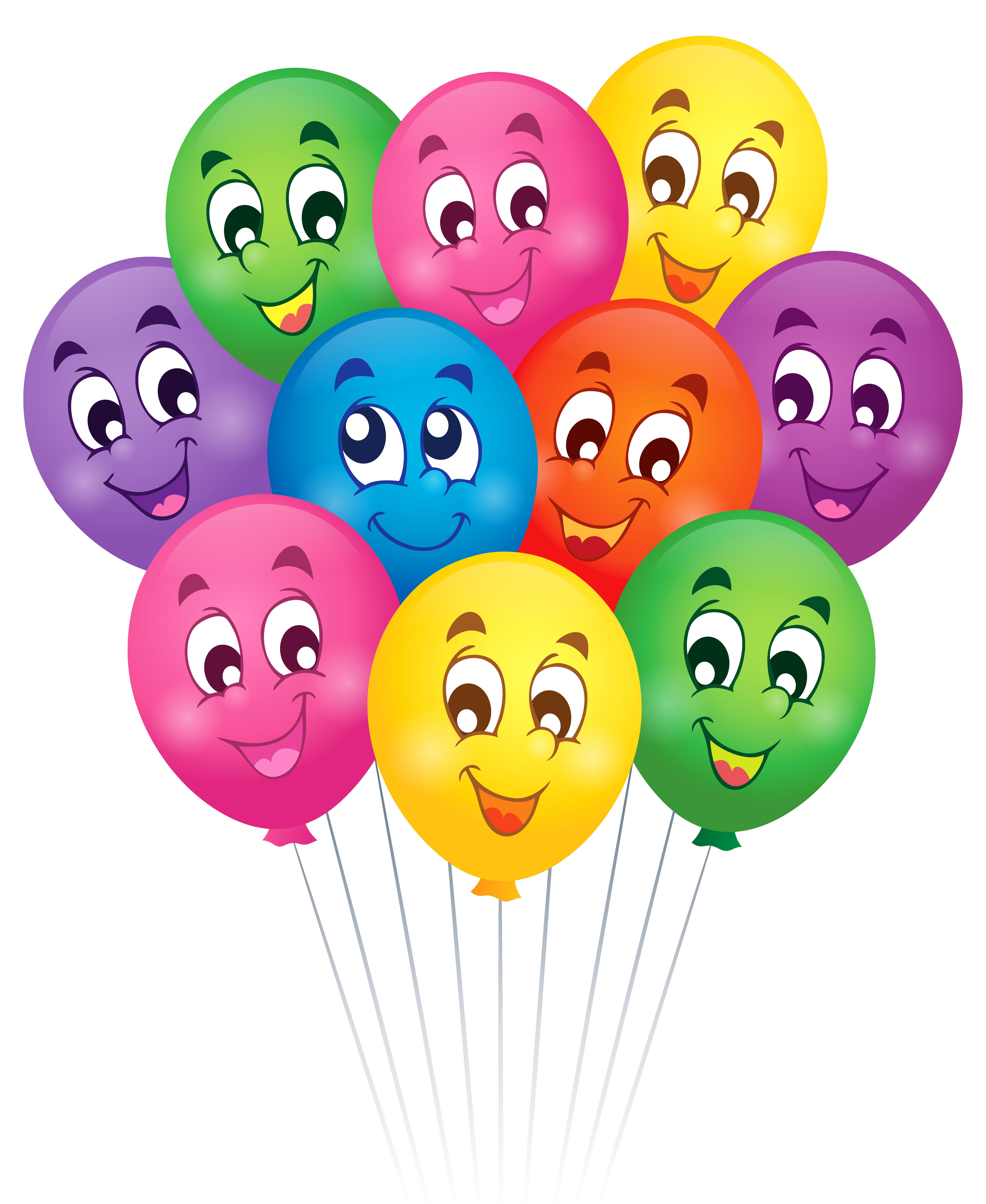 Balloons with faces png. Clipart balloon cartoon