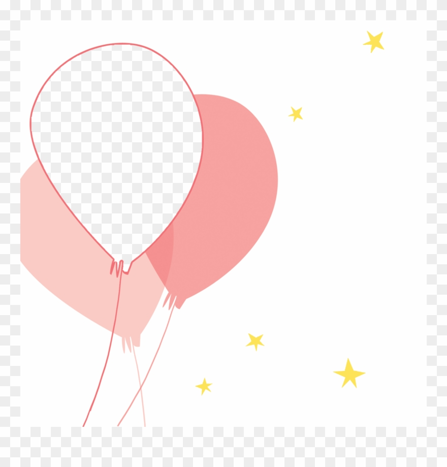 Pink party birthday invitation. Balloons clipart template