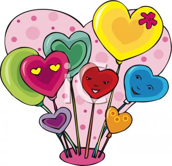 Valentine s image com. Balloons clipart valentines