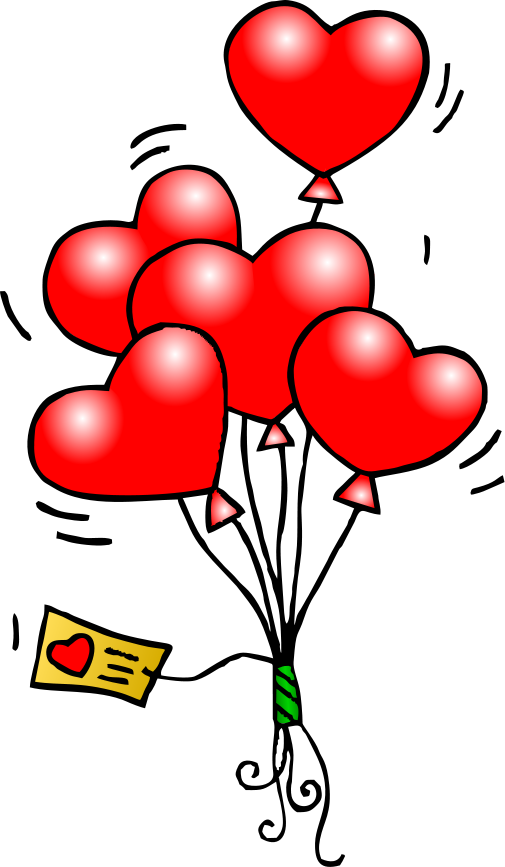 Balloons clipart valentines. Heart here s your