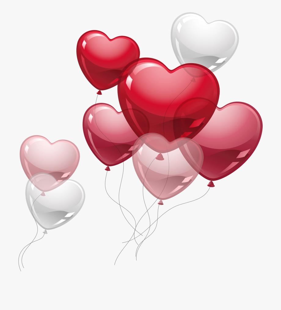 Pink birthday clip art. Balloons clipart valentines