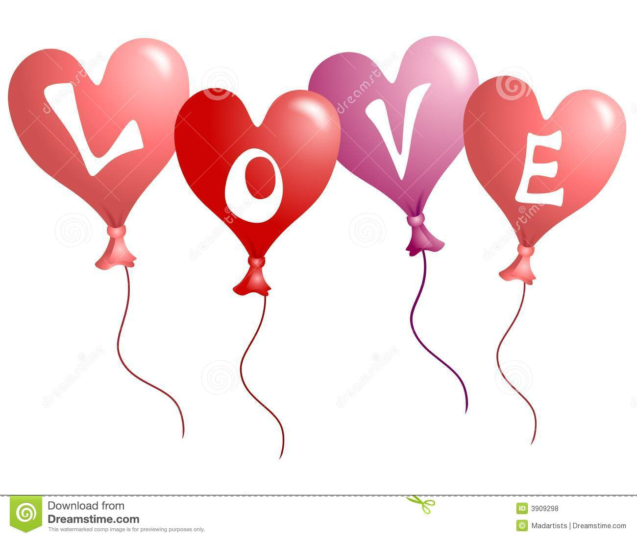Balloons clipart valentines. Day
