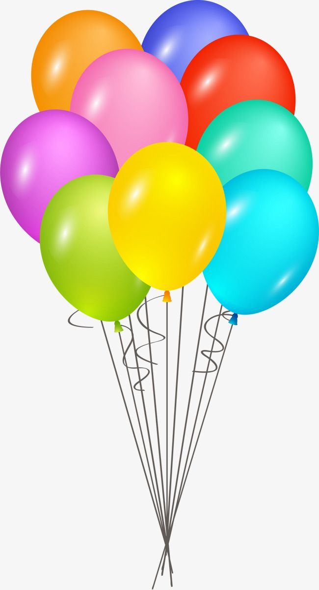 Hand painted happy birthday. Clipart balloons cartoon