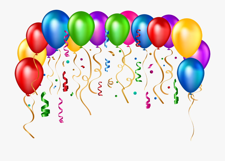 Balloons clipart. Party png download happy