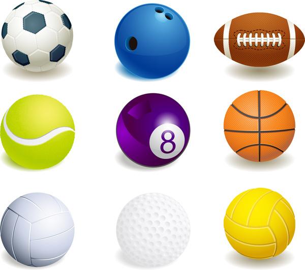 Free clip art sports. Balls clipart