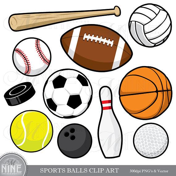 Balls clipart. Sports clip art downloads