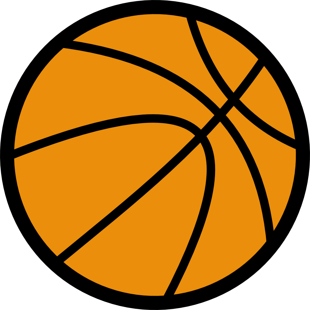 Ball black and white. Free clipart basketball