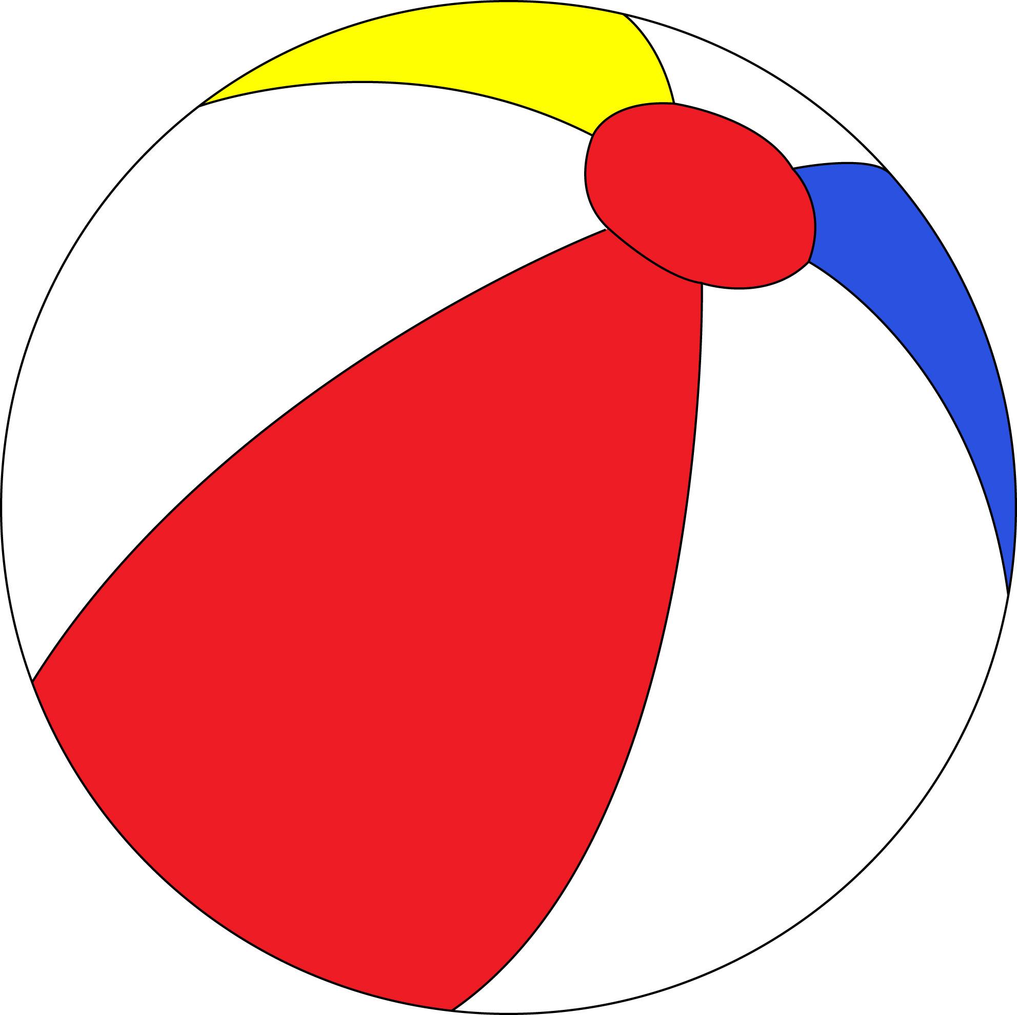 Beachball transparent . Balls clipart beach ball