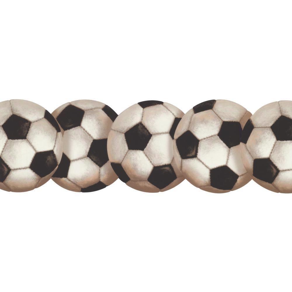 Fresh images of soccer. Balls clipart border