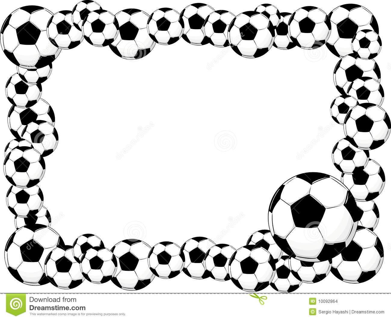 Balls clipart border. Soccer ball