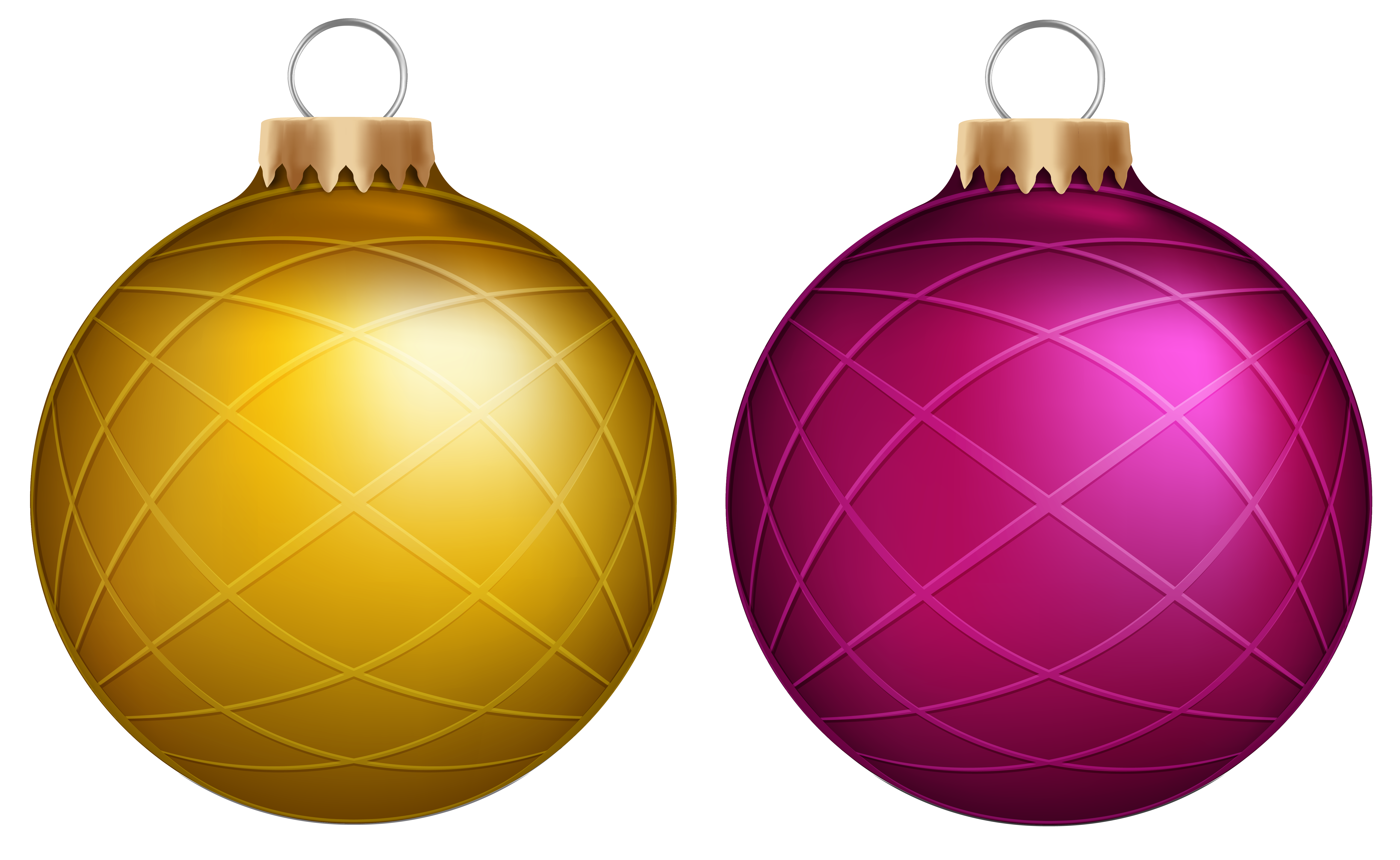 Instruments clipart pink. Yellow and christmas balls