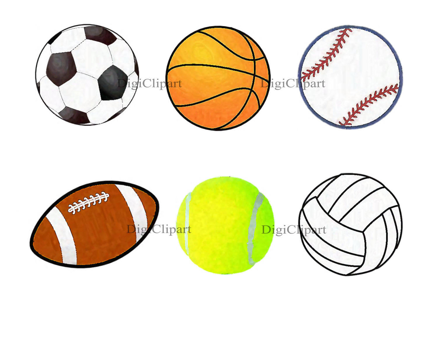 collection of sports. Balls clipart cartoon