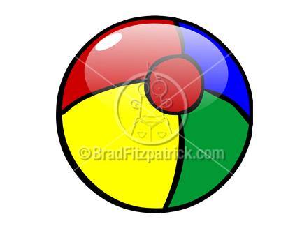 Beach picture royalty free. Ball clipart cartoon