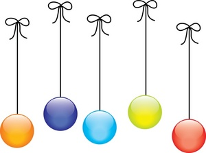 Balls clipart colored. Free christmas clip art