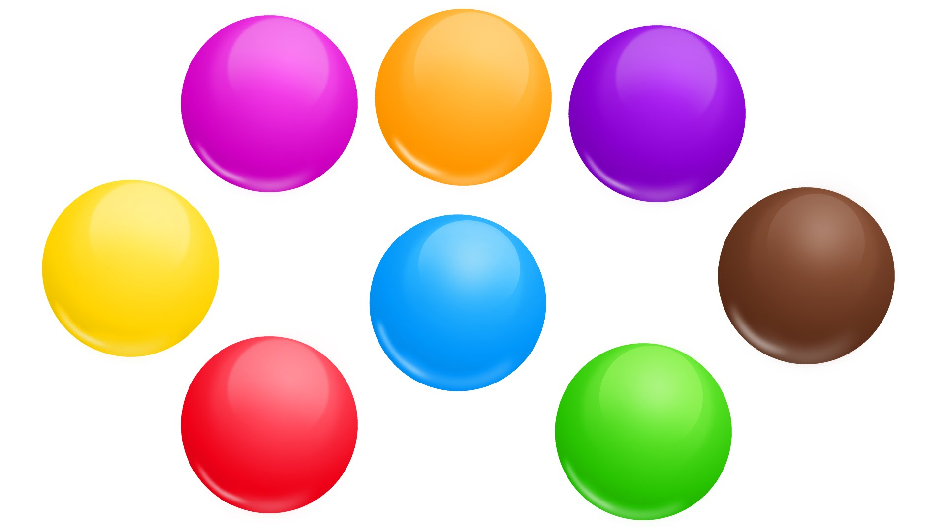 Balls clipart colored. Best learning video for