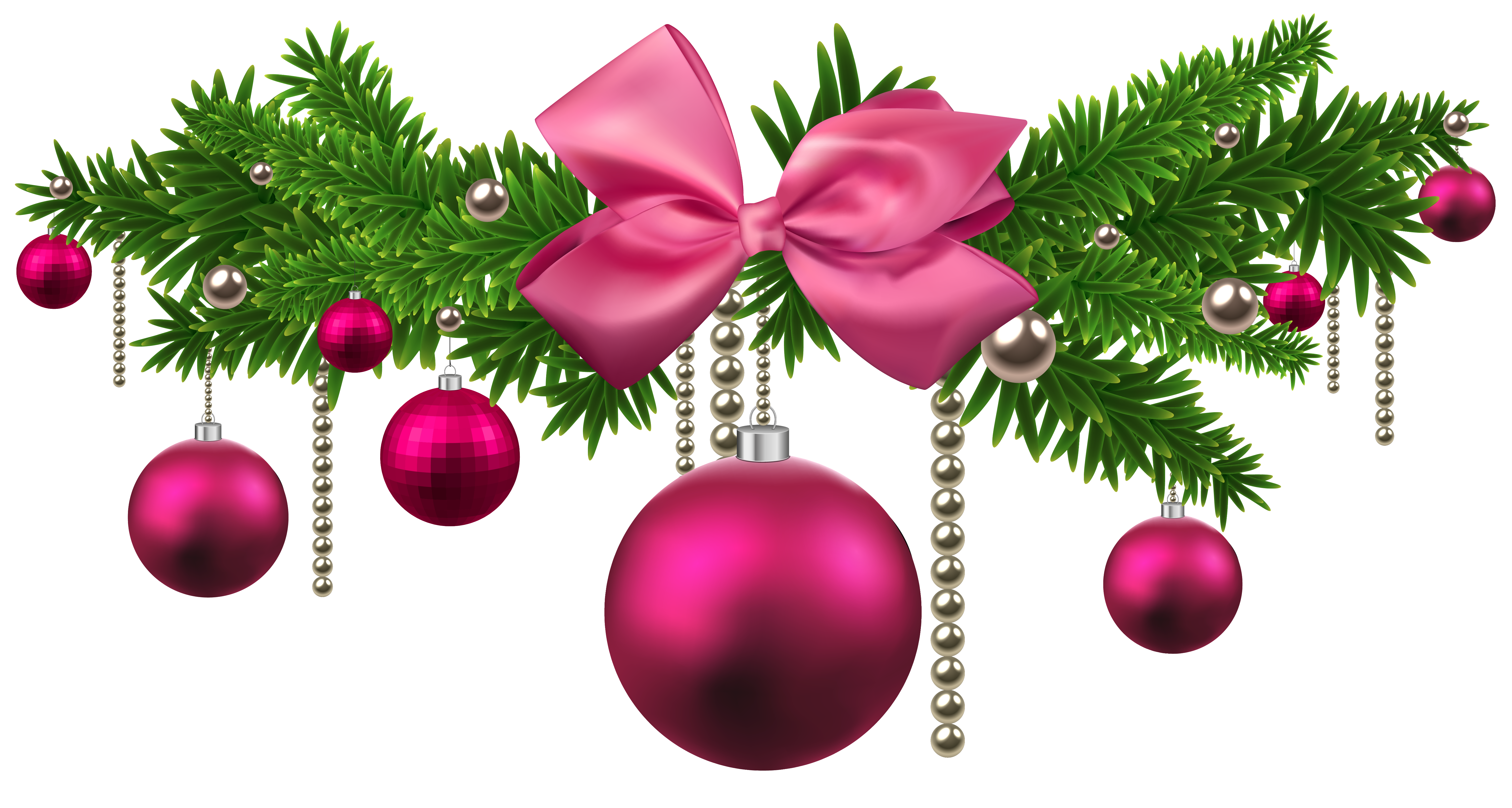Pink christmas balls png. Decoration clipart cute