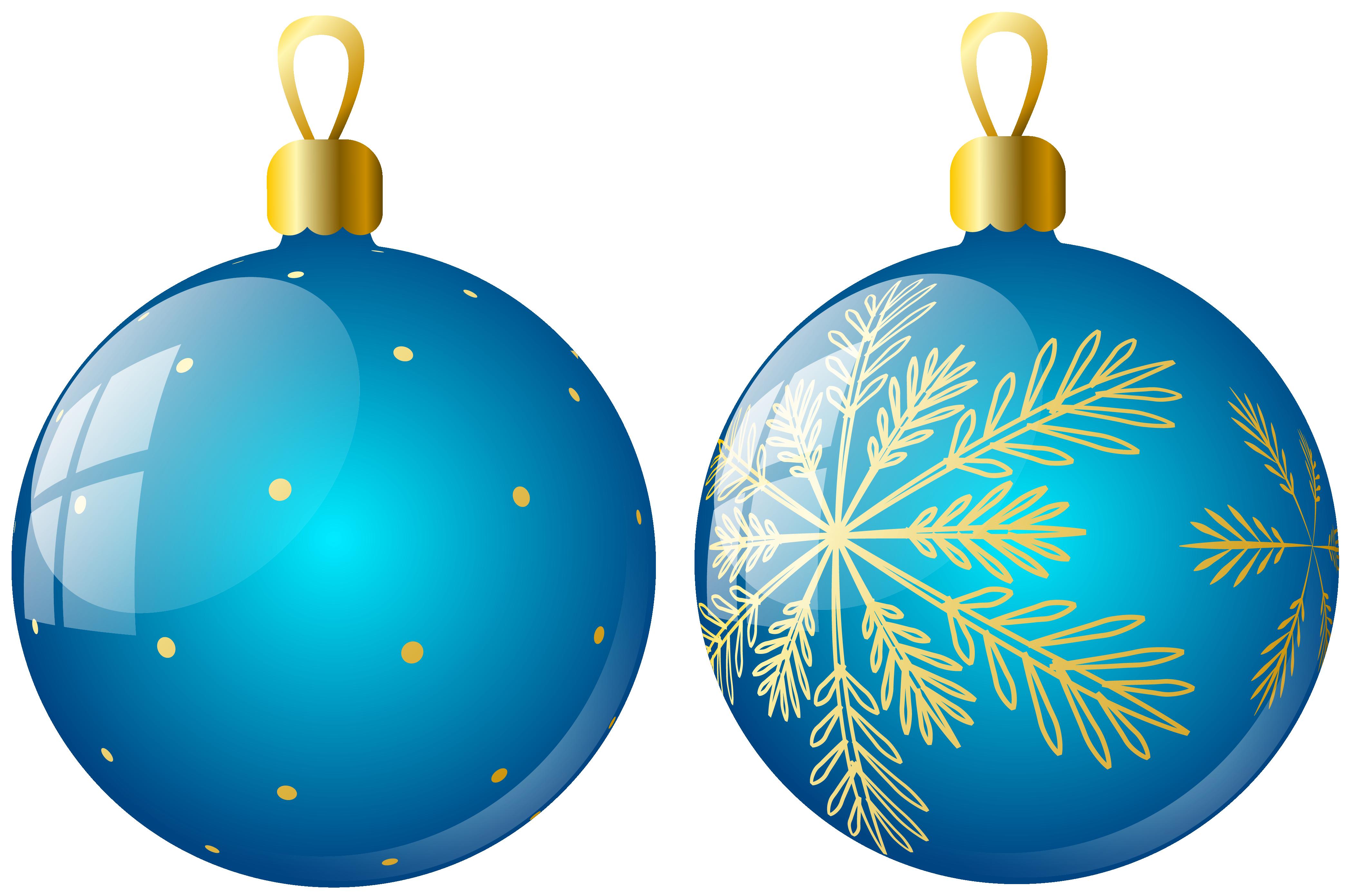 Ornaments clipart. Transparent two blue christmas