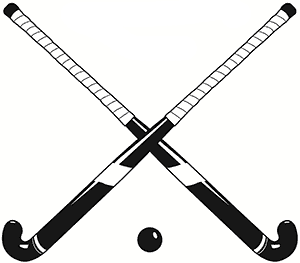 Crossed field sticks best. Hockey clipart feild hockey