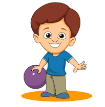 Bowling clipart child. Sports free to download