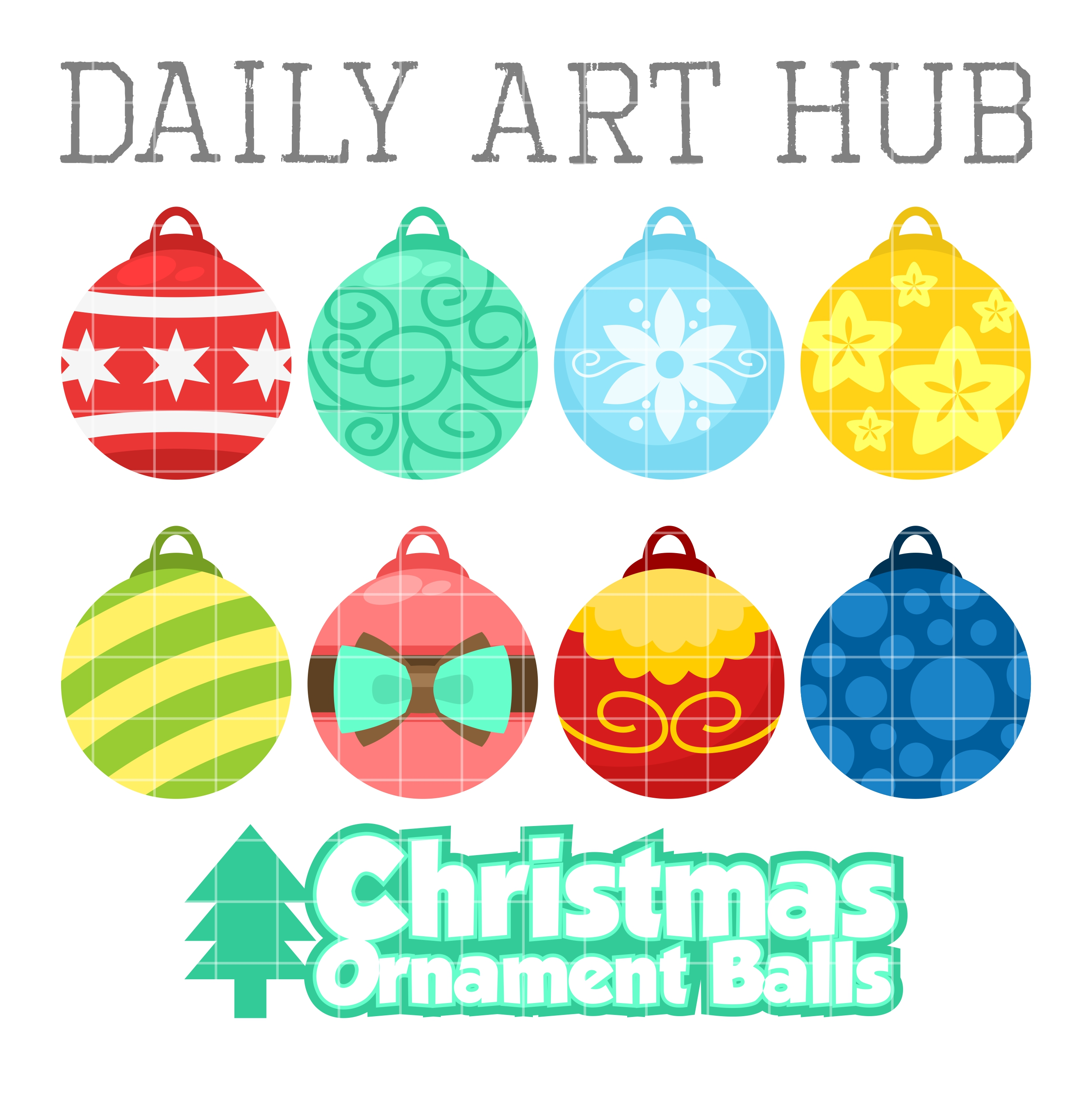 Christmas balls clip art. Ball clipart ornament