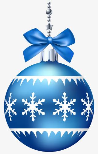Blue christmas ball decoration. Balls clipart ornament