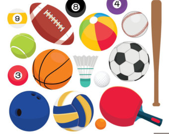 Balls clipart printable. Golf etsy sport football
