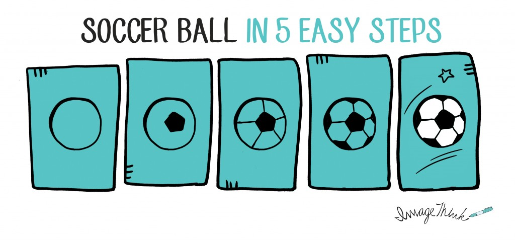 Soccer ball drawing easy. Balls clipart simple