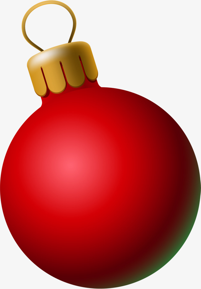 Red ball the ornaments. Balls clipart simple