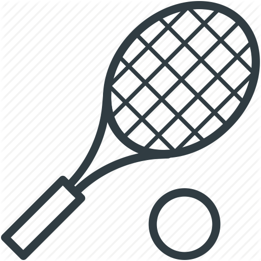 Tennis ball outline free. Balls clipart squash racket