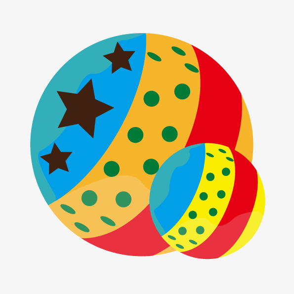 Vector hand colored hd. Balls clipart toy ball