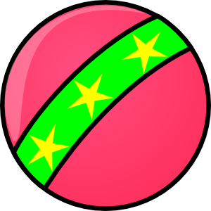 Ball with stars clip. Toy clipart