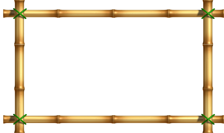 frame for free. Bamboo border png