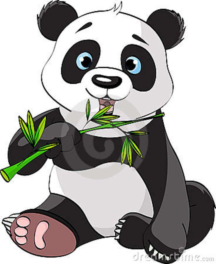 Bamboo clipart animated. Cartoon pandas panda eating