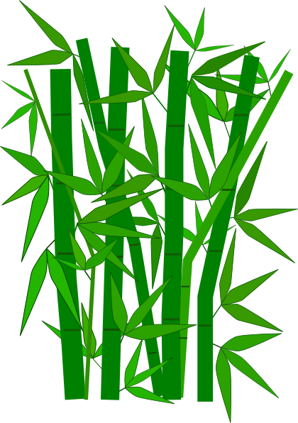 Cartoon of leaves . Bamboo clipart animated