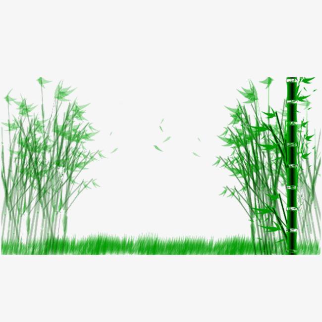 Fresh walkway green forest. Bamboo clipart bamboo grass