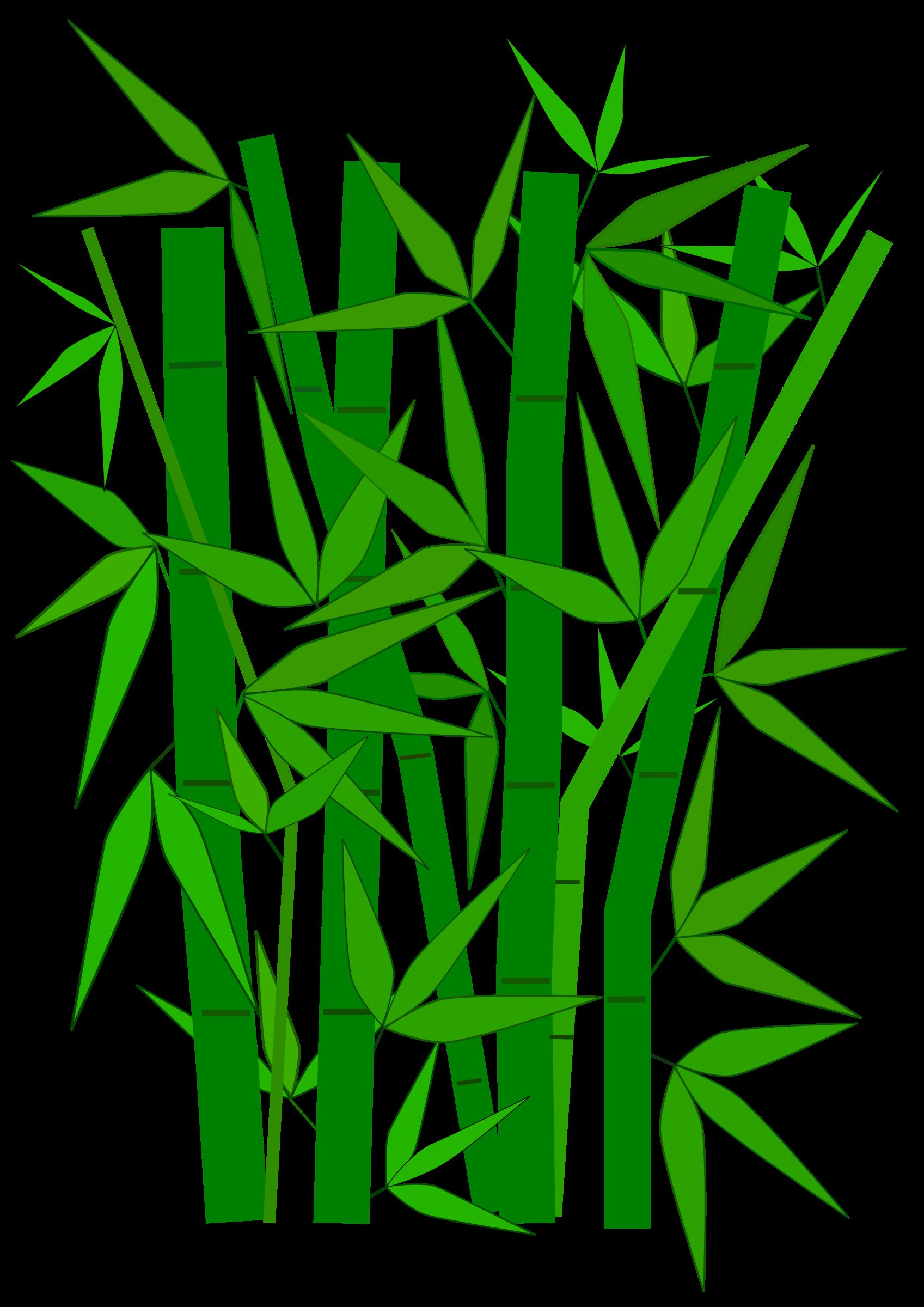 Clipart panda bamboo stick. Leaves