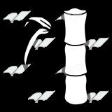 Abeka clip art stalk. Bamboo clipart black and white