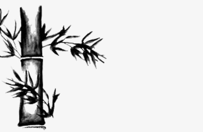 Bamboo clipart black and white. Ink png image