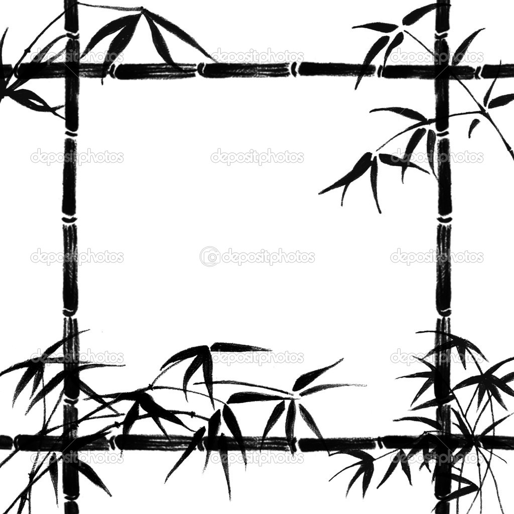 Silhouette at getdrawings com. Bamboo clipart black and white