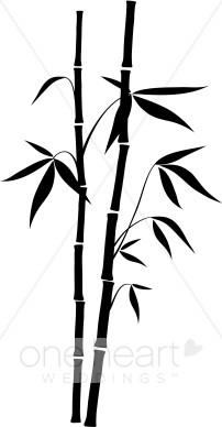 Bamboo clipart black and white. Wedding leaf