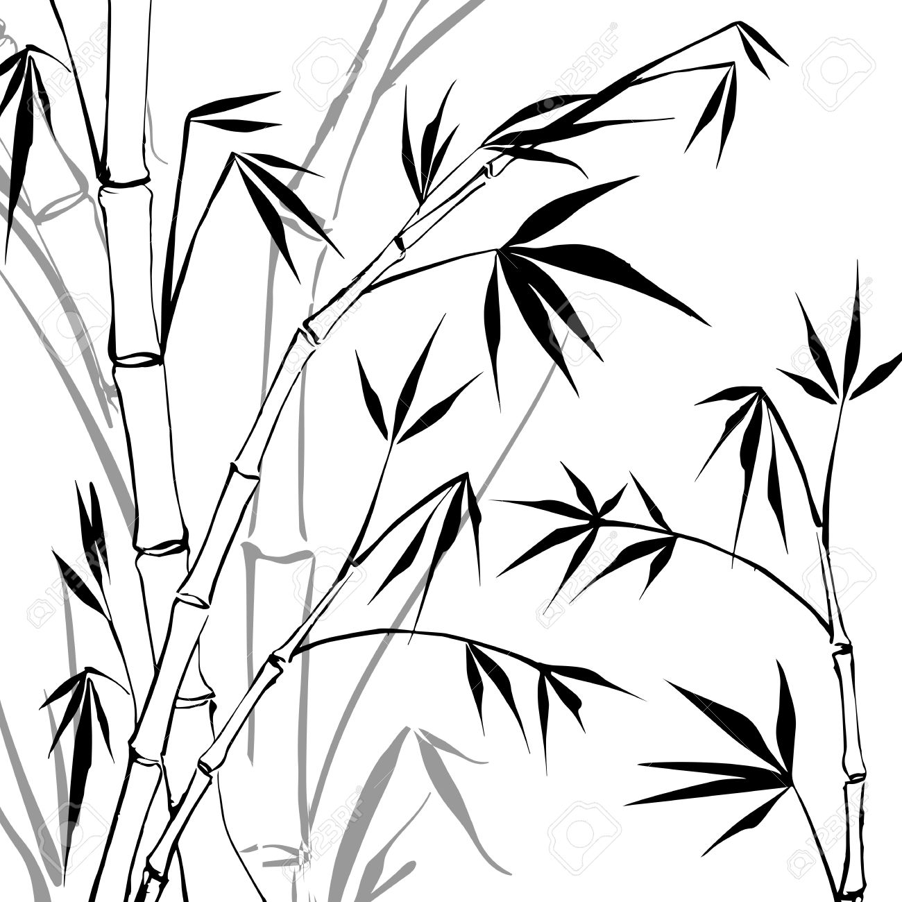 Bamboo clipart black and white. Station