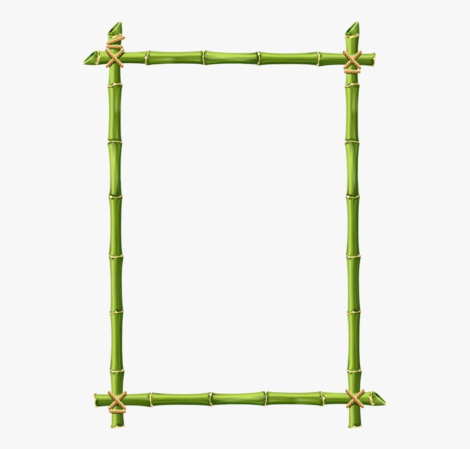 Bamboo design . Clipart border page