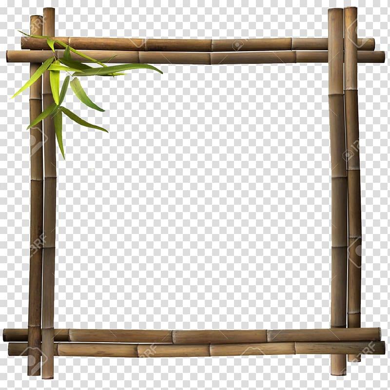 Frame frames transparent . Bamboo clipart brown bamboo