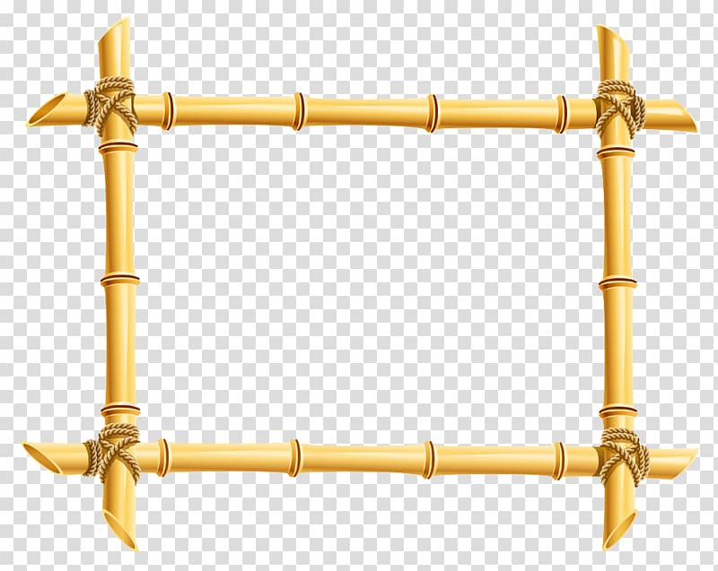 Bamboo clipart brown bamboo. Frame illustration